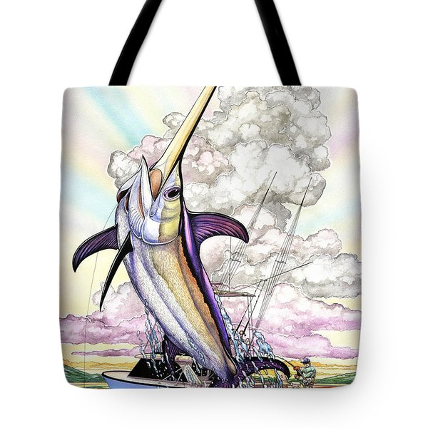 Fishing Swordfish Tote Bag