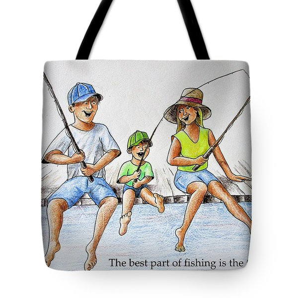 Fishing Tale Tote Bag