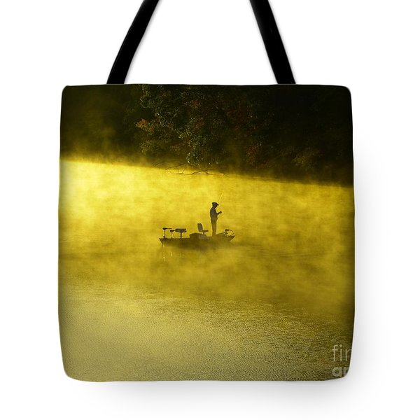 Fishing The Prettyboy Reservoir Tote Bag