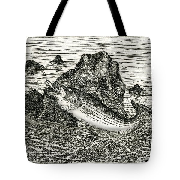Tote Bag featuring the photograph Fishing The Rocks by Charles Harden