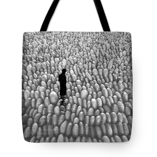 Tote Bag featuring the photograph Fishing The Rocks by David Lee Thompson