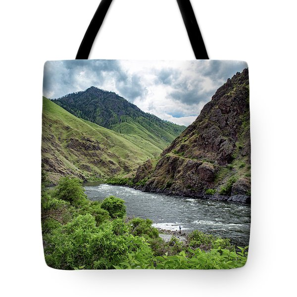 Fishing The Snake Waterscape Art By Kaylyn Franks Tote Bag