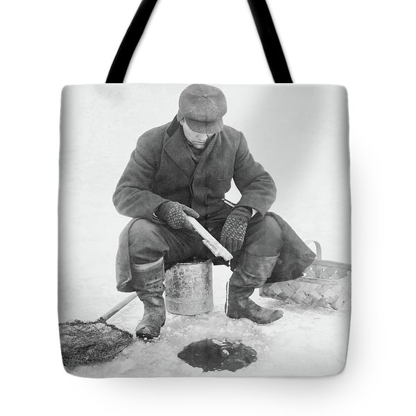 Fishing Through Ice Tote Bag