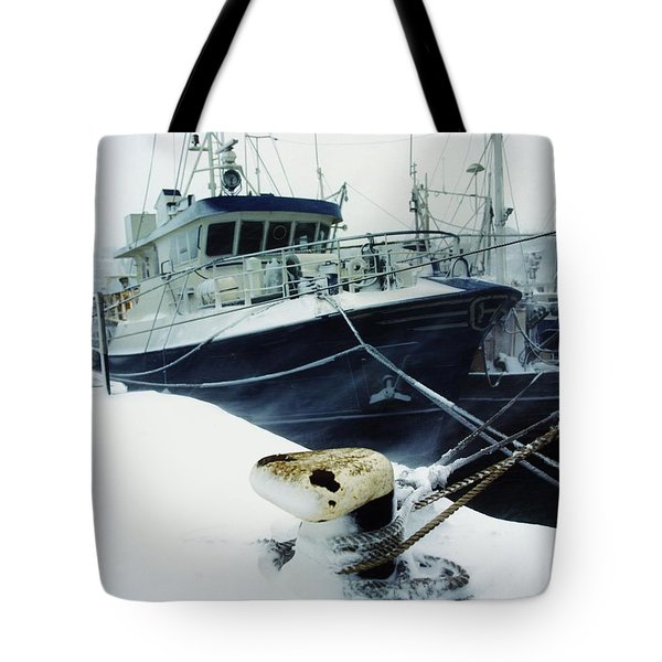 Fishing Trawler, Howth Harbour, Co Tote Bag by The Irish Image Collection