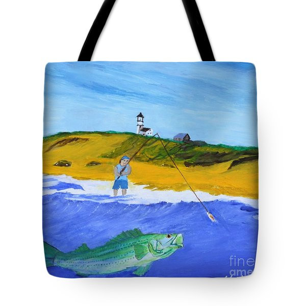 Fishing Under Highland Light Tote Bag
