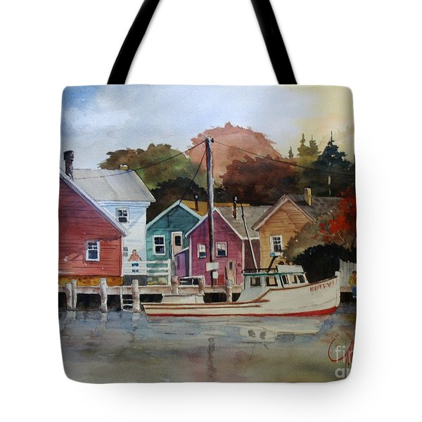 Fishing Village Tote Bag