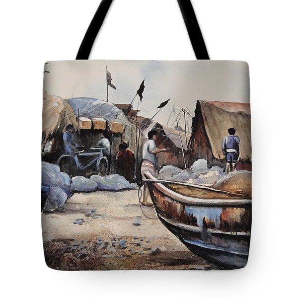Fishing Village Of Puri Tote Bag