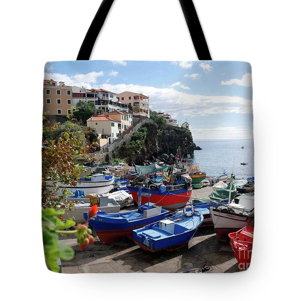 Fishing Village On The Island Of Madeira Tote Bag