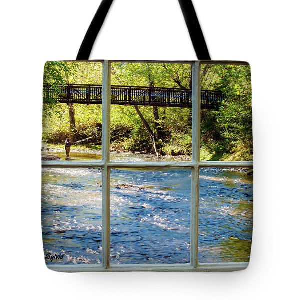 Tote Bag featuring the photograph Fishing Window by Randy Sylvia