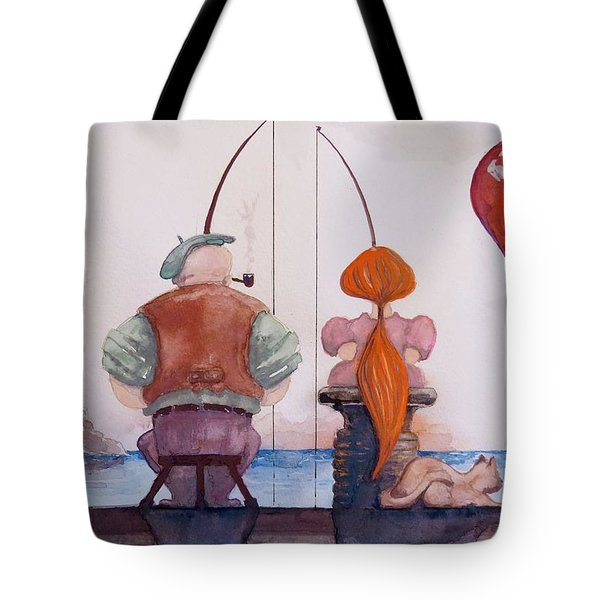 Fishing With Grandpa Tote Bag