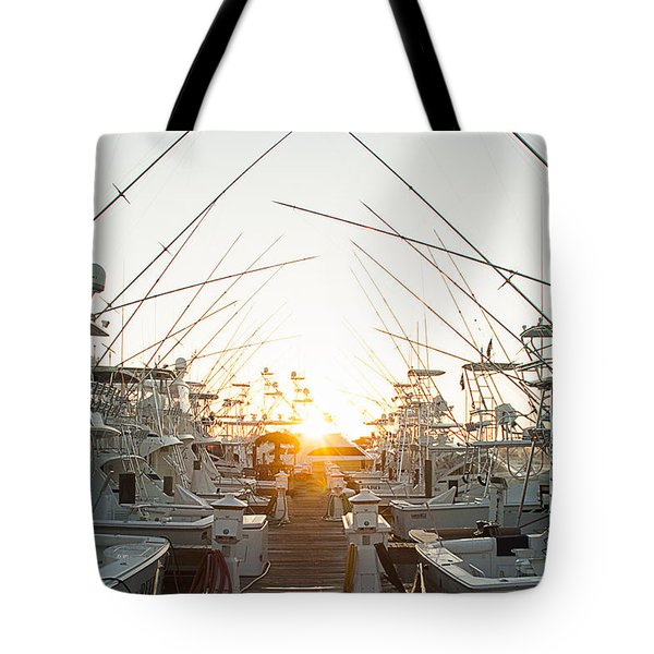 Fishing Yachts Tote Bag