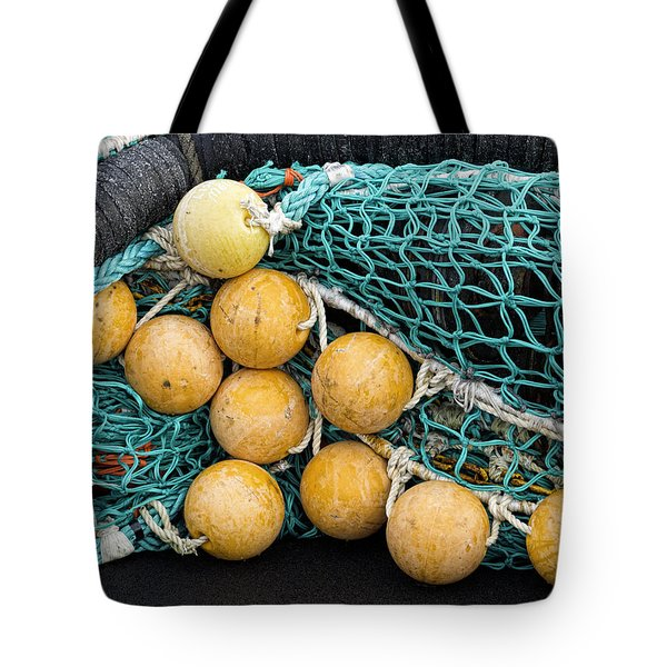 Fishnet Floats Tote Bag by Carol Leigh
