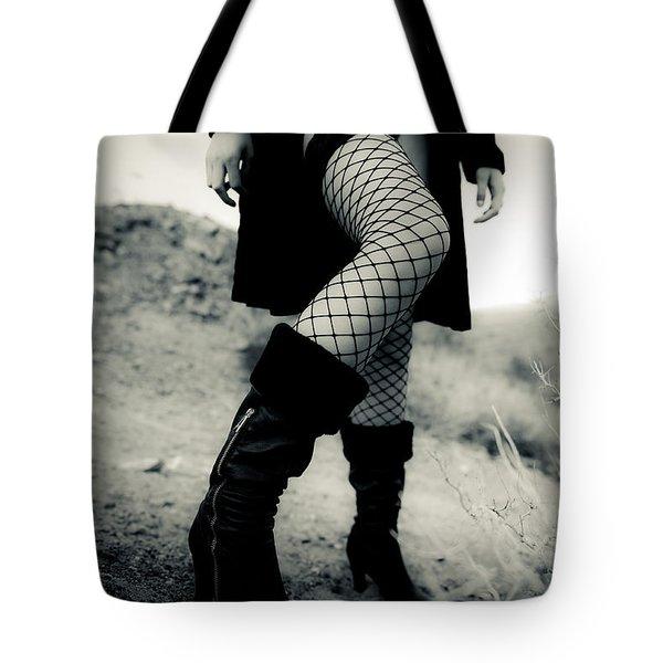 Fishnet Leg Tote Bag by Scott Sawyer