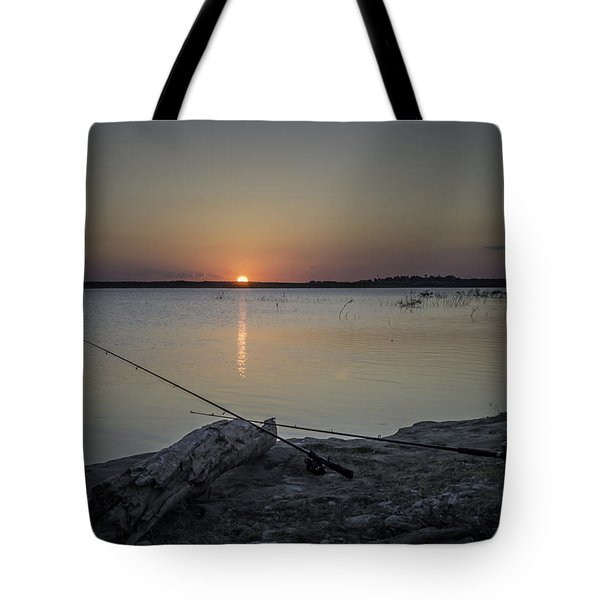 Fishing Poles Tote Bag by Leticia Latocki
