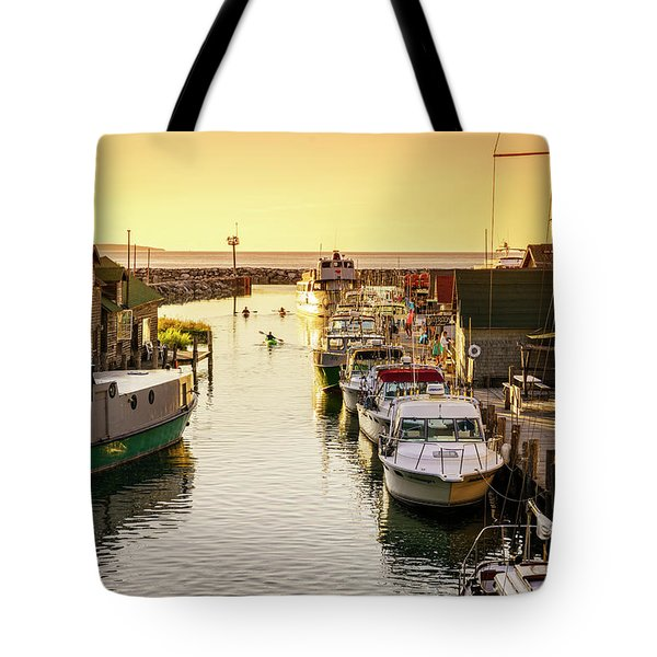 Tote Bag featuring the photograph Fishtown by Alexey Stiop