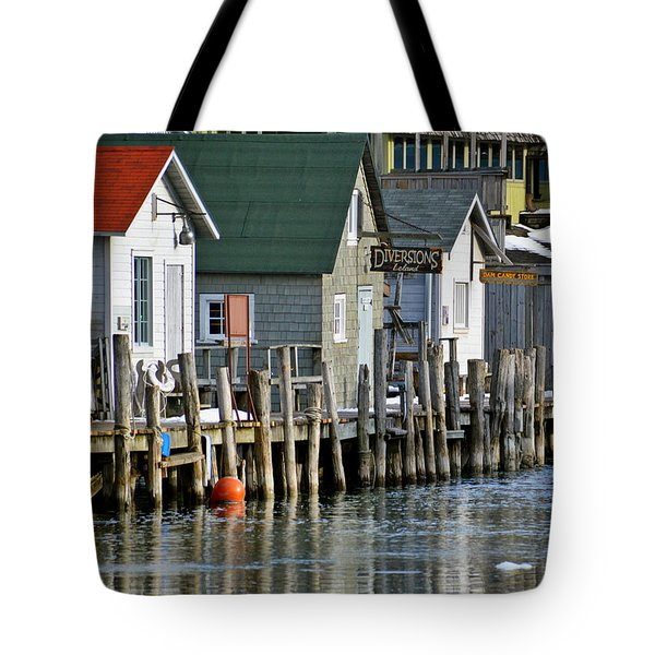 Tote Bag featuring the photograph Fishtown In Leland by SimplyCMB
