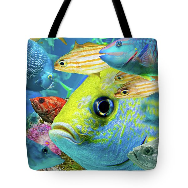 Fishy Collage 02 Tote Bag
