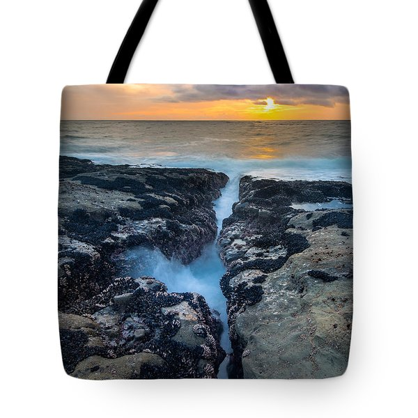 Fissure Sunset Tote Bag