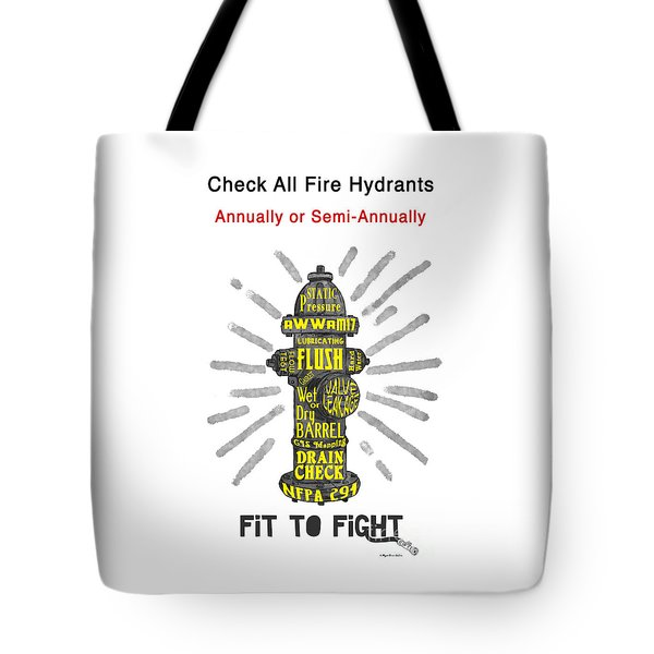 Fit To Fight Tote Bag by Megan Dirsa-DuBois