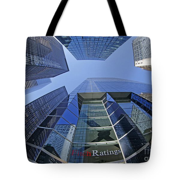 Tote Bag featuring the photograph Fitch Ratings Manhattan Nyc by Juergen Held