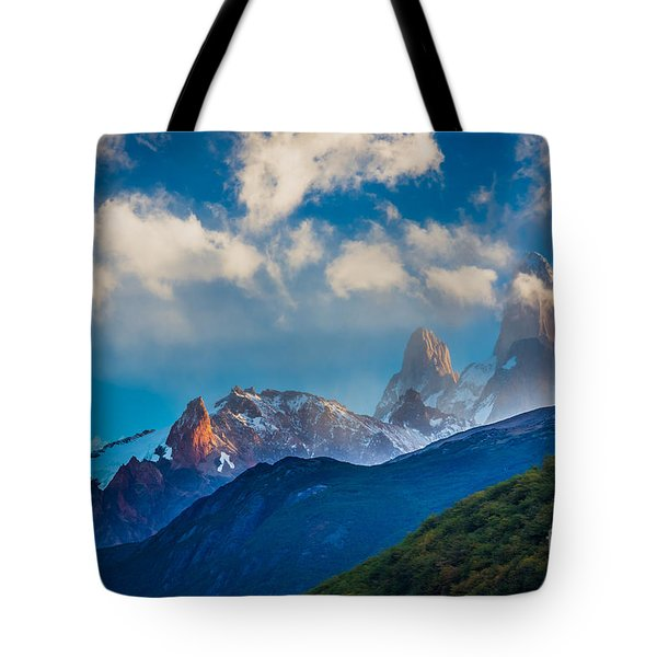 Fitz Roy Cloudbreak Tote Bag