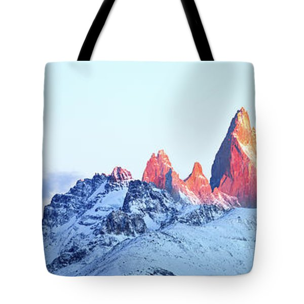Tote Bag featuring the photograph Fitz Roy Peak by Phyllis Peterson