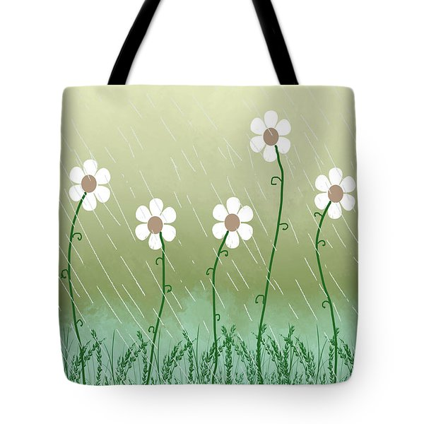 Five Days Of Daisies Tote Bag