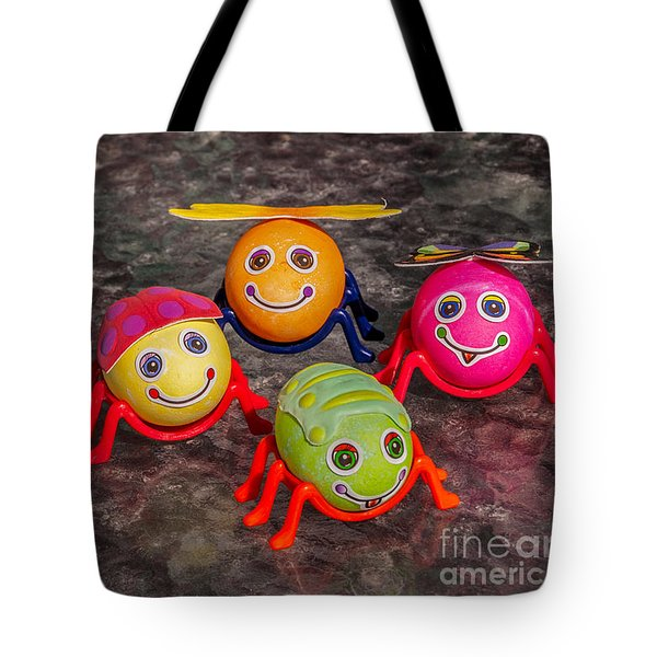 Five Easter Egg Bugs Tote Bag by Sue Smith