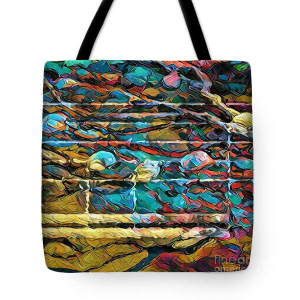 Five Figure Squared 2 Tote Bag by Lon Chaffin
