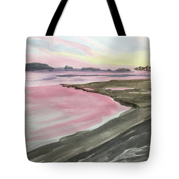 Tote Bag featuring the painting Five Islands - Watercolor Sketch  by Joel Deutsch
