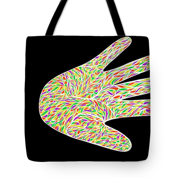 Tote Bag featuring the drawing Stop Bulling Live As One by Jamie Lynn