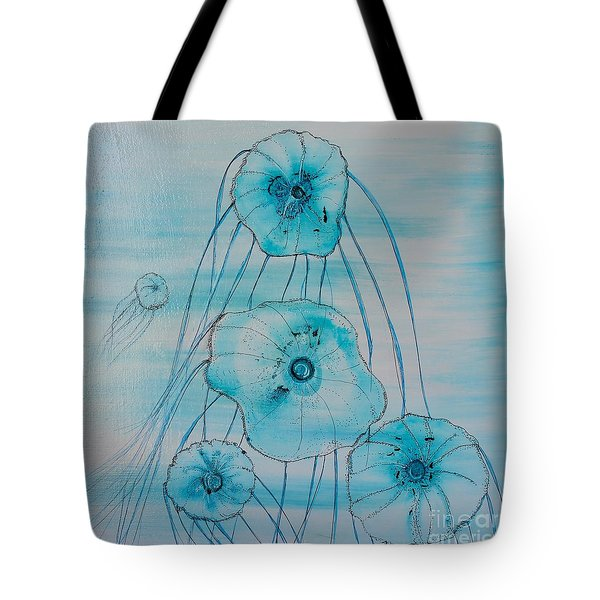 Tote Bag featuring the painting Five Jelly Family by Kim Nelson