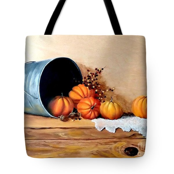 Five Little Pumpkins Tote Bag