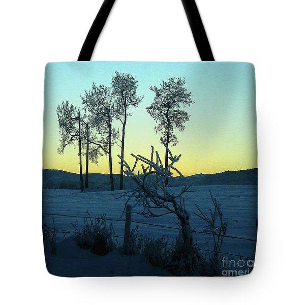 Five Poplars, Frozen Tote Bag