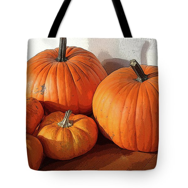 Five Pumpkins Tote Bag