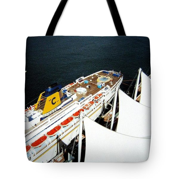 Five Sails And A Ship Tote Bag by Will Borden