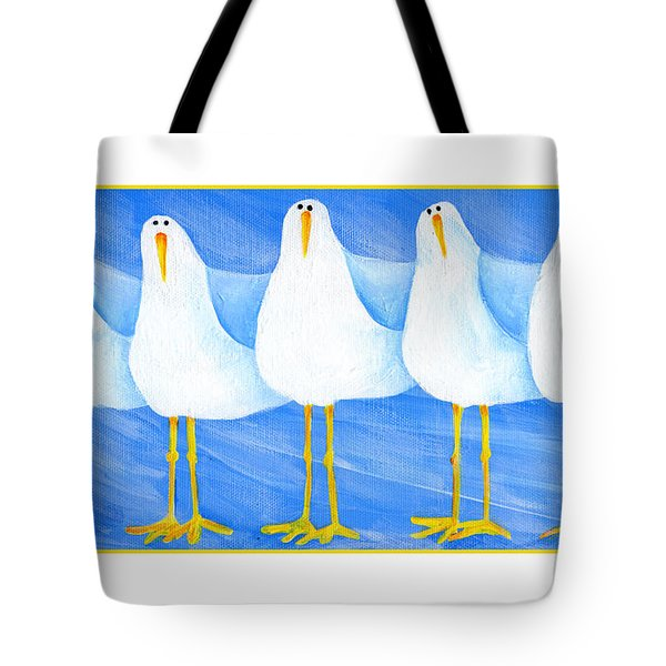 Five Seagulls Tote Bag