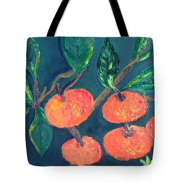 Five Tangerines Tote Bag