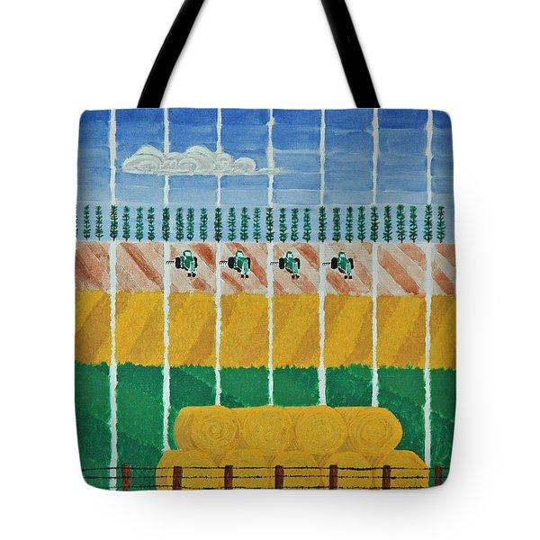 Five Tractors Tote Bag
