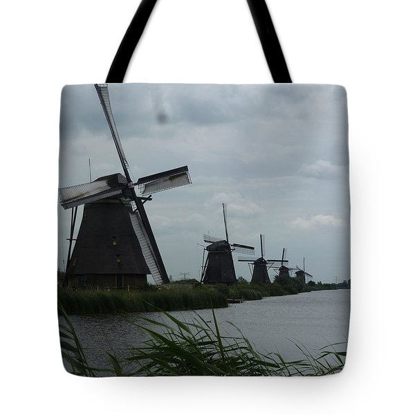 Five Windmills In Kinderdijk Tote Bag
