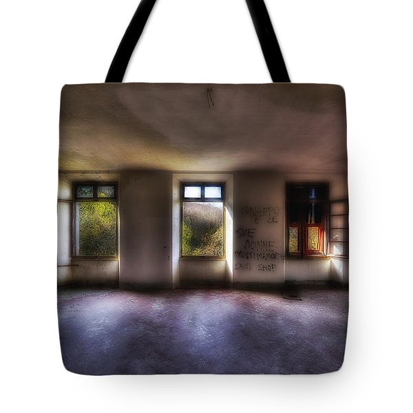 Tote Bag featuring the photograph Five Windows On The Wood - Cinque Finestre Sul Bosco by Enrico Pelos