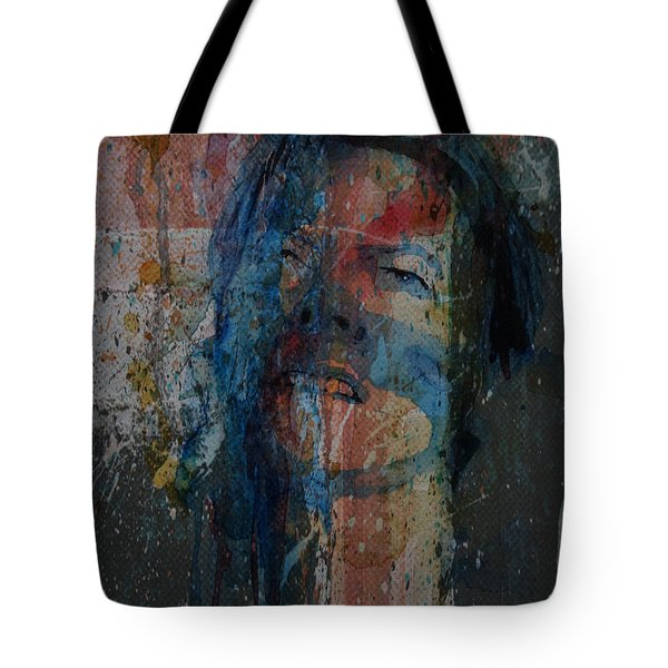Tote Bag featuring the painting Five Years by Paul Lovering