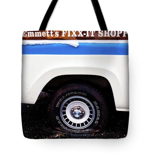 Tote Bag featuring the photograph Fixx It by Randy Sylvia