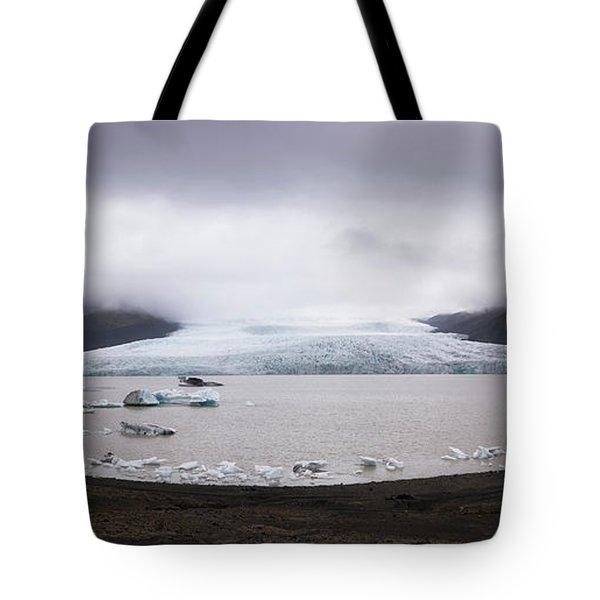 Fjallsarlon Lagoon Panorama  Tote Bag