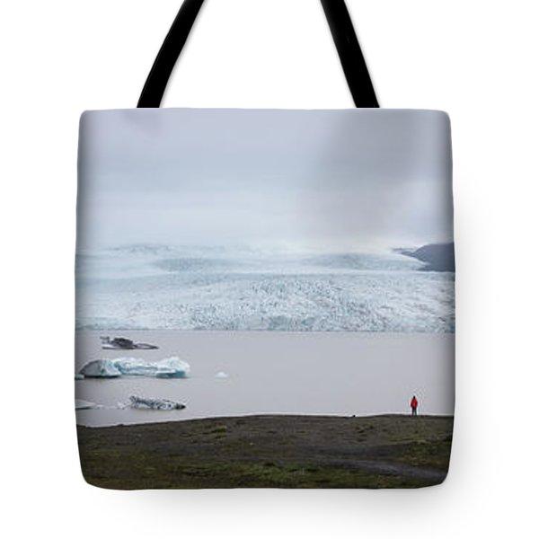 Fjallsarlon Panorama  Tote Bag