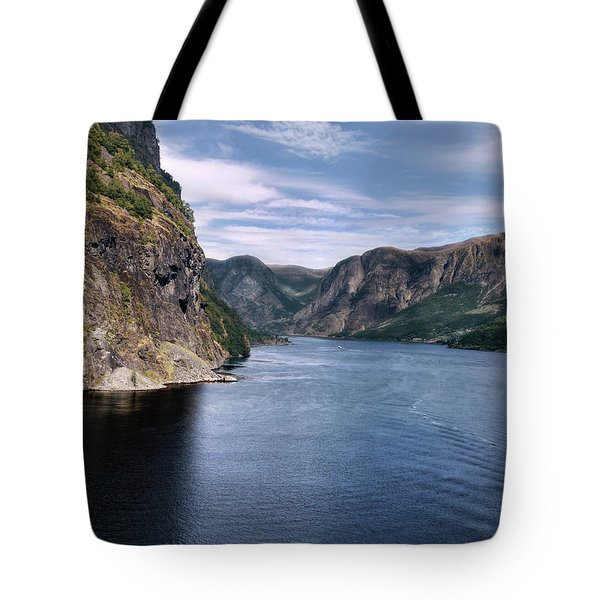 Fjord Tote Bag by Jim Hill