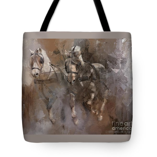 Fjords On The Run Tote Bag by Kathy Russell