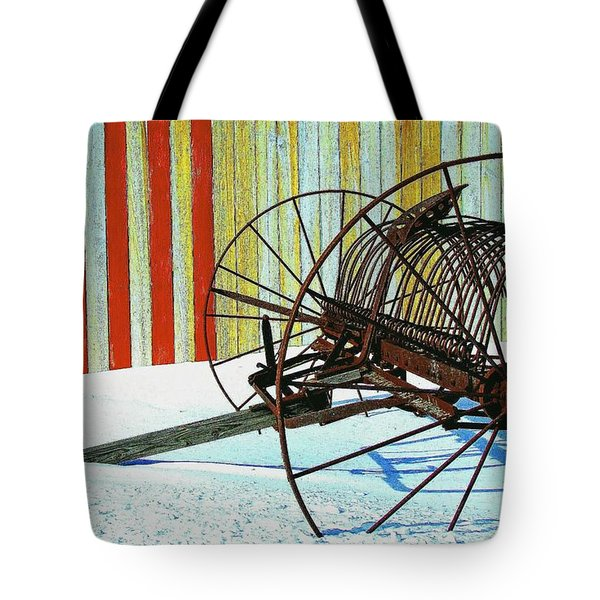 Flag And The Wheel Tote Bag