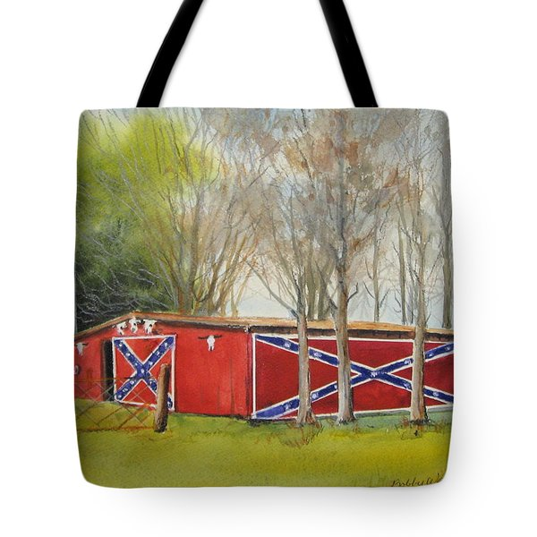 Flag Barn Tote Bag