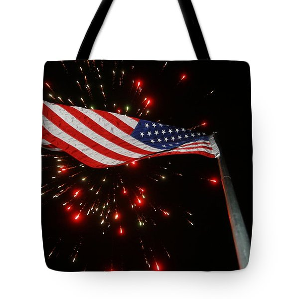 Flag In All Its Fiery Glory Tote Bag
